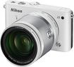 Nikon - 1 J3 Compact System Camera with 10-100mm VR Lens - White