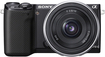 Sony - NEX-5R Compact System Camera with 18-55mm Lens - Black