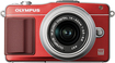 Olympus - PEN E-PM2 Compact System Camera with 14-42mm Lens - Red