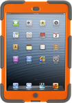 Griffin Technology - Grey/Orange Survivor All-Terrain Case + Stand for iPad mini - Orange