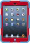 Griffin Technology - Blue/Red Survivor All-Terrain Case + Stand for iPad mini - Red