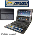 Team ProMark - San Diego Chargers Executive Bluetooth Keyboard Case for Apple® iPad® - Black