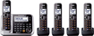 Panasonic - Link2Cell DECT 6.0 Plus Expandable Cordless Phone System with Digital Answering System