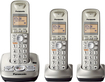 Panasonic - DECT 6.0 Plus Expandable Cordless Phone System with Digital Answering System - Champagne Gold