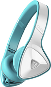 Monster - DNA On-Ear Headphones - White/Teal - White/Teal