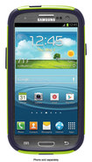 OtterBox - Commuter Series Case for Samsung Galaxy S III Cell Phones - Glow Green/Lake Blue - Glow Green/Lake Blue