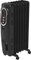 Honeywell - EnergySmart Electric Radiator Heater - Black/Chrome