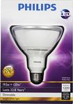 Philips - 1200-Lumen, 19.5-Watt Dimmable PAR38 LED Floodlight Bulb, 120-Watt Equivalent - White