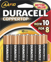 Duracell - CopperTop AA Batteries (10-Pack)