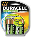 Duracell - Precharge Rechargeable AA NiMH Batteries (4-Pack)