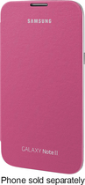Samsung - Flip Case for Samsung Galaxy Note II Cell Phones - Pink