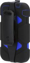 Griffin Technology - Black/Blue Heavy Duty Survivor Case for iPhone 4/4s - Blue