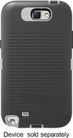 OtterBox - Defender Series Case for Samsung Galaxy Note II Cell Phones - Gray/White - Gray/White