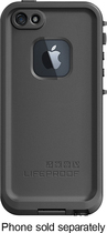 LifeProof - Case for Apple® iPhone® 5 and 5s - Black - Black