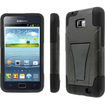 MPERO - Collection Tough Armor Kickstand Case for Samsung Galaxy S II I777 (AT&T) - Black - Black