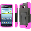 MPERO - Collection Tough Armor Kickstand Case for Samsung Galaxy S II I777 (AT&T) - Black, Hot Pink - Black, Hot Pink