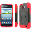 MPERO - Collection Tough Armor Kickstand Case for Samsung Galaxy S II I777 (AT&T) - Black, Red - Black, Red