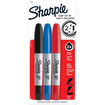 Sharpie - Super Twin Permanent Marker - Fine Marker Point Type - Chisel Marker Point Style - Assorted Ink - Assorted