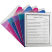 C-line - Project Folders with Dividers, Letter, 1/3 Tab, Clear/Colored, 5/PK