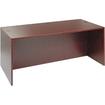 Alera - Valencia Series Straight Front Desk Shell, 71w x 3 - Laminate, Mahogany