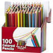 RoseArt - Colored Pencils, Pull'n'Pop Display Pack, 100 Colors, 100/Set - Assorted - Assorted