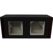 "Absolute USA - DKS10 Dual 10"" MDF Square-Hole Vented Enclosure/Box - Black - Black"