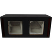 "Absolute USA - DKS12 Dual 12"" MDF Square-Hole Vented Enclosure/Box - Black - Black"