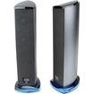 GOgroove - SonaVERSE Ti USB Powered Tower Computer Speakers w/ LED Base - Works with Apple MacBook Pro & More - Black
