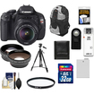 Canon - EOS Rebel T3i Camera+EF-S 18-55 IS II Lens 32GB Tripod Case Battery Remote Filter Telephoto/Lens Kit