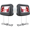 "Farenheit - HRD9GR 9"" LCD DVD Car Headrest Set - Gray"