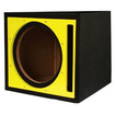 "Absolute USA - PSEB12Y Single 12"" Ported Subwoofer Enclosure with Black Carpet - Black, Yellow - Black, Yellow"