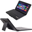 GreatShield - 2!Go Series Detachable Leather Bluetooth Keyboard Case for Asus VivoTab Smart ME400C - Black