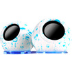 GOgroove - SonaVERSE LYT Dual USB Powered Portable Computer Speakers w/ LED Color-Changing base