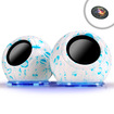 Accessory Power - Gogroove SonaVERSE GRY Color Changing LED Ultrabook Computer Speakers with Dancing Glow Base - white/blue