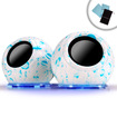 Accessory Power - Gogroove SonaVERSE USB Powered Portable Speakers with Light Up LED Color Changing base - White/Blue