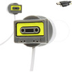 Accessory Genie - TrackBUDs Retro Cassette Tape Deck Earbud Headphones w/ Micro-USB Cable