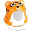 GOgroove - Groove Pal Jr. Tiger Portable Media Speaker with Glowing LED Base - Orange