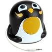 GOgroove - Groove Pal Jr. Penguin Portable Media Speaker with Glowing LED Base - Black