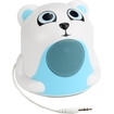 GOgroove - Groove Pal Jr. Polar Bear Portable Media Speaker with Glowing LED Base - White