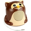 GOgroove - Groove Pal Jr. Owl Portable Media Speaker with Glowing LED Base - Brown