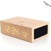 GOgroove - Bluetooth Wooden Stereo Speaker & Bedside Alarm Clock w/ Temperature Display + Capacitive Stylus - Multi