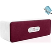 GOgroove - BlueSYNC MCWB Wireless Stereo Speaker with Stylish Wood Housing + Touch Stylus & Cloth - White