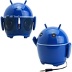GOgroove - The Official Phandroid Portable Rechargeable Speaker w/ Stereo Drivers & Universal 3.5mm Audio Cable - Blue