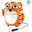GOgroove - Groove Pal Tiger Portable Animal Speaker f/Kids - Works great Phones iPads & Children's Tablets - Multi