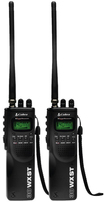 Cobra - HH 38 WX ST Hand Held CB Radio with Weather & SoundTracker System 2 Pack - Black - Black