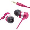 GOgroove - audiOHM Earbuds In-Ear Stereo Headphones w/Interchangeable Noise Isolating Ear Gels & Deep Bass - Purple - Purple