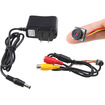 AGPtek - Ultra Mini Micro CCTV Night Vision Security Camera as Hidden Surveillance - Black - Black