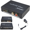 AGPtek - HDMI to HDMI and SPDIF and RCA L/R Audio Extractor Converter - Black - Black
