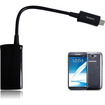 RND Power Solutions - HDMI MHL Adapter for Samsung Galaxy S3, S4, Note 2, and Note 3 - Black - Black