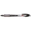 BIC - Z4+ Roller Ball Stick Pen, Black Ink, Fine, Dozen - Transparent